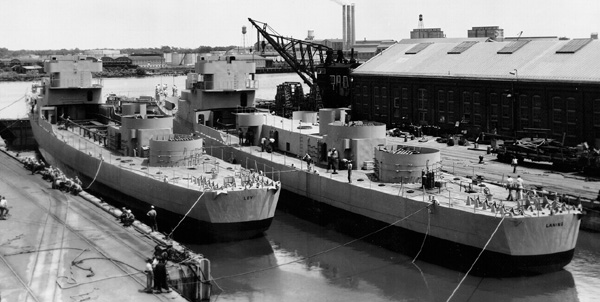 USS Loy and USS Laning