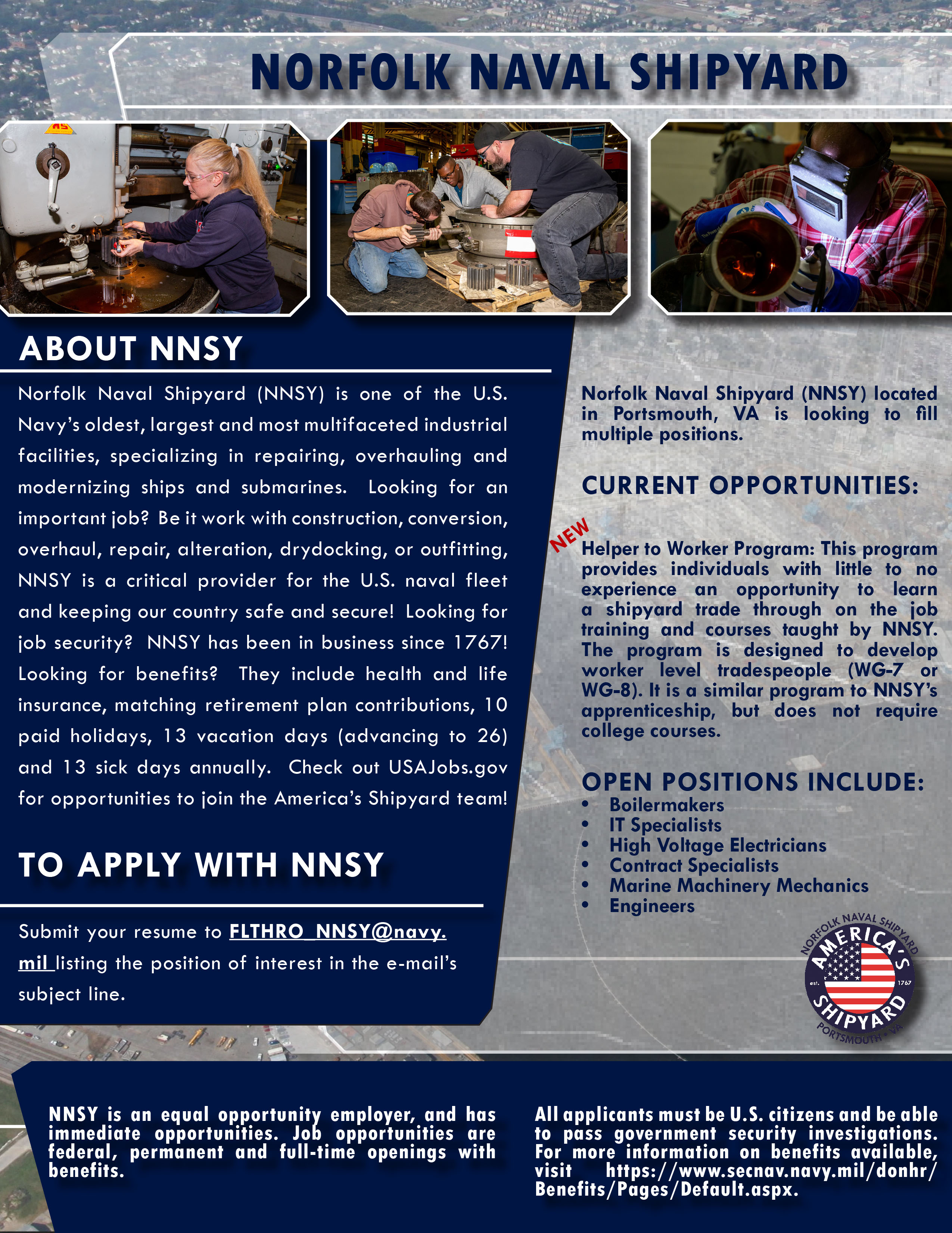 NNSY Recruitment Poster April 2020 graphic