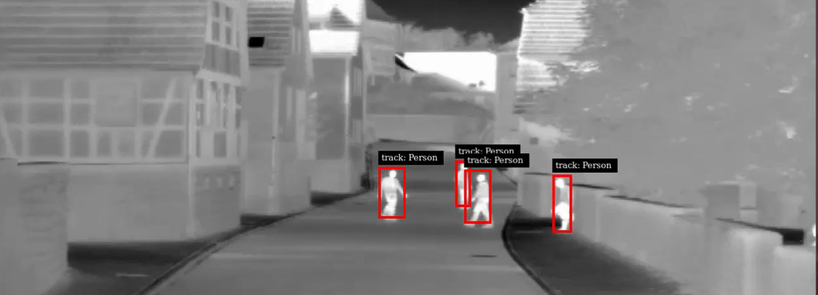 Several potential targets walk in an urban setting as Intelligent Tracker automatically generates their optical target tracks. The Intelligent Tracker – a new product developed by Naval Surface Warfare Center Dahlgren Division (NSWCDD) – will increase the Army's Next Generation Combat Vehicle's intelligent fire control capability to control its medium and large caliber weapon systems. Optical target tracks are generated automatically for use in direct fire weapon systems. The tracks are used in conjunction with a fire control system to lock onto a specific threat, easing the burden on the operator. Intelligent Tracker is capable of automatically generating target tracks for a wide range of targets and adding additional automation to the weapon control processes. (U.S. Navy image/Released)