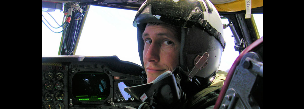IMAGE: Matthew Roles – a Battle Management System (BMS) systems engineer at Naval Surface Warfare Center Dahlgren Division (NSWCDD) – co-pilots a B-52 somewhere over the Pacific Ocean while on a Pacific Bomber Presence deployment to Guam in 2007. As a U.S. Air Force officer, Roles flew the F-16 Fighting Falcon and the B-52 Stratofortress until a stroke ended his active duty career. He started his government civilian career in 2009 at NSWC Dahlgren Division as a lethality and effectiveness analyst. He eventually became the Navy technical representative to the Joint Technical Coordinating Group for Munition Effectiveness Collateral Damage Working Group before joining BMS where he works to demonstrate the capability for a future long-range, unmanned concept. (Photo courtesy Matthew Roles/Released)