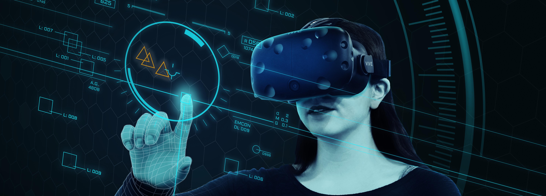 Oculus Rift glasses in the virtual world