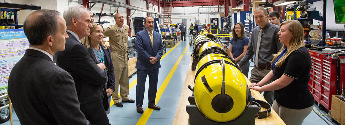 Secretary of the Navy tours NUWC Division Newport's facilities