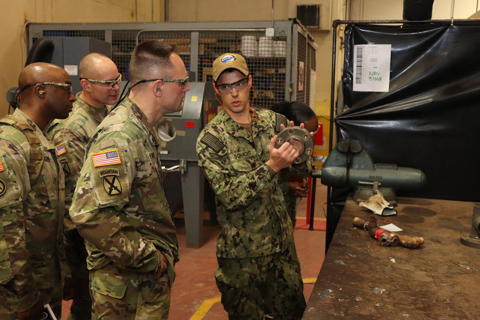 U.S. Army Chief of Transportation visits MARMC's Production Shops