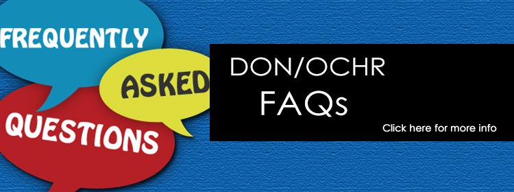 DON OCHR Frequently Asked Questions