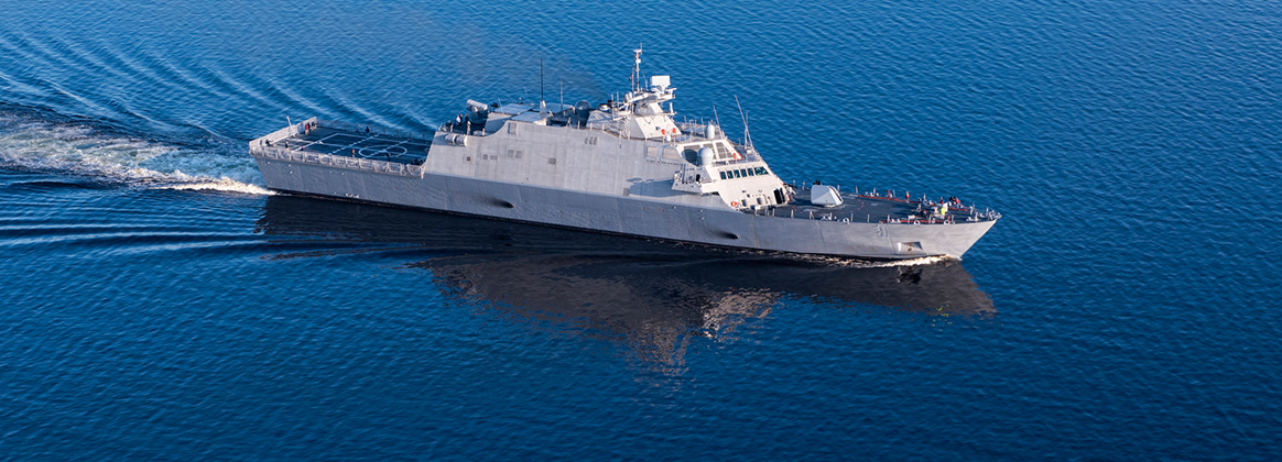 MARINETTE, Wis. (May 25, 2018) - The future USS Sioux City (LCS 11) concluded its Acceptance Trial after completing a series of graded in-port and underway demonstrations on the Great Lakes for the Navy's Board of Inspection and Survey.