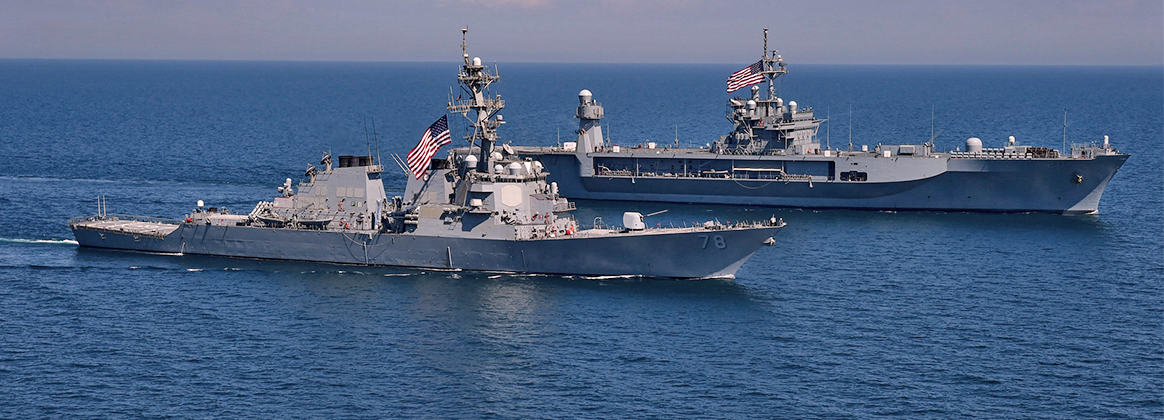 The Arleigh Burke-class guided-missile destroyer USS Porter (DDG 78)