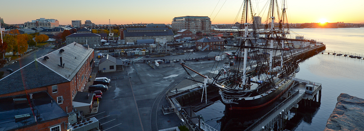 USS Constitution moored at Boston Naval Shipyard, Nov. 7, 2018.