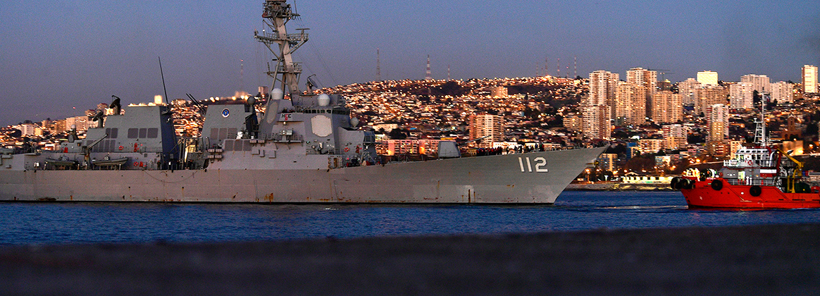 USS Michael Murphy (DDG 112) returns to port in Valparaiso, Chile after completing the execution phase of UNITAS LX.