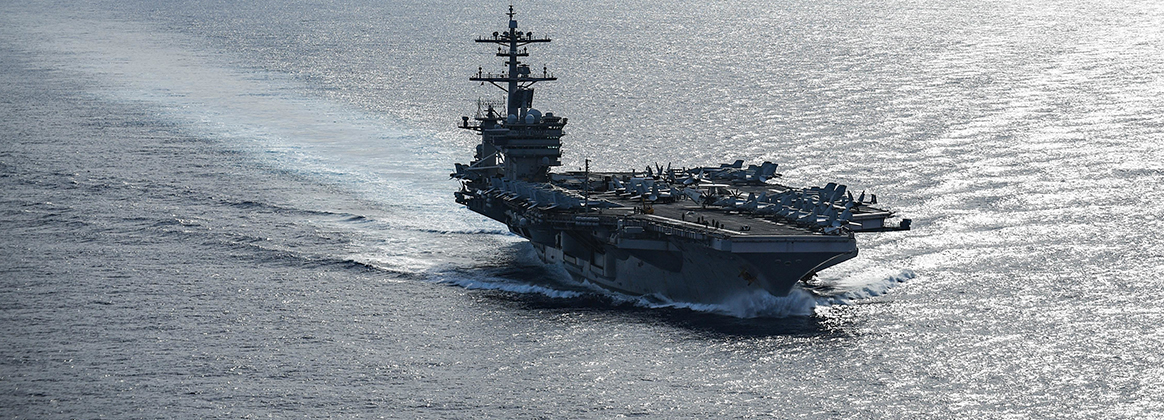 The aircraft carrier USS Theodore Roosevelt (CVN 71) transits the Pacific Ocean, June 26, 2020.