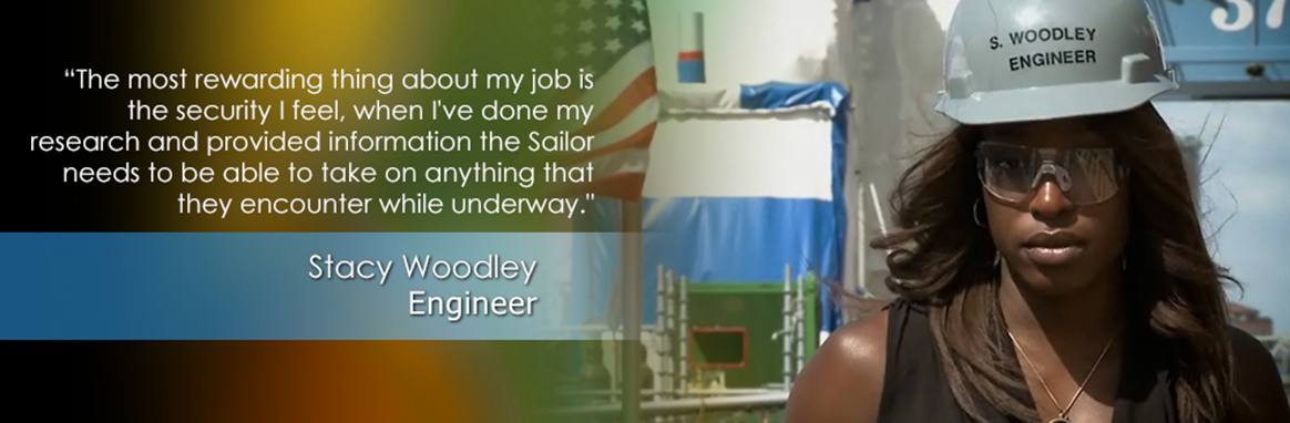 Stacy Woodley, NAVSEA Engineer