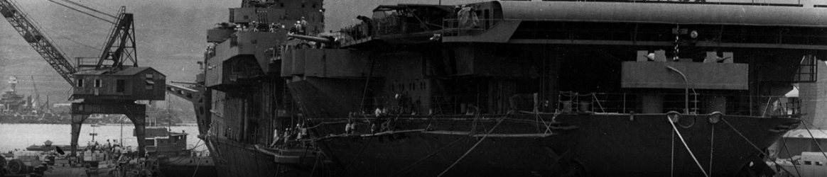 Image: USS Yorktown (CV-5) - In Dry Dock # 1 at the Pearl Harbor Navy Yard, 29 May 1942