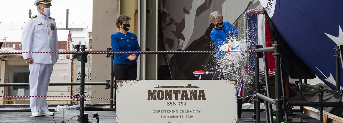 USS Montana (SSN 794) christening ceremony on Saturday, Sept. 12, 2020, in Newport News, Va.