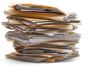 Image: stack of documents