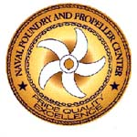 Naval Foundry and Propeller Center badge