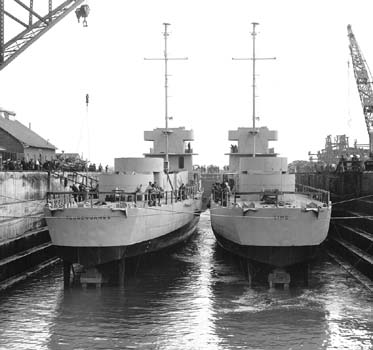 USS Reuben James and USS Sims