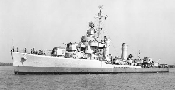 c.1970 US Naval Destroyer USS FECHTELER DD 870 USN Navy Ship Print