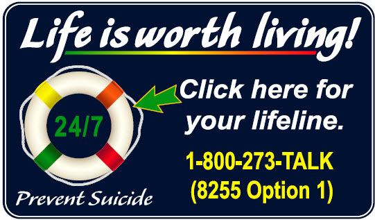 Suicide Hotline - click here for more information
